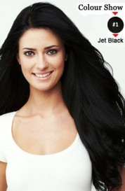 100S Nail Tip 16inches Human Hair Extensions Jet Black(#01)