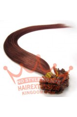 100S Nail Tip 22inches Human Hair Extensions Dark Auburn(#33)