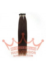 100S Stick Tip 22 inches Human Hair Extensions Medium Brown(#04)